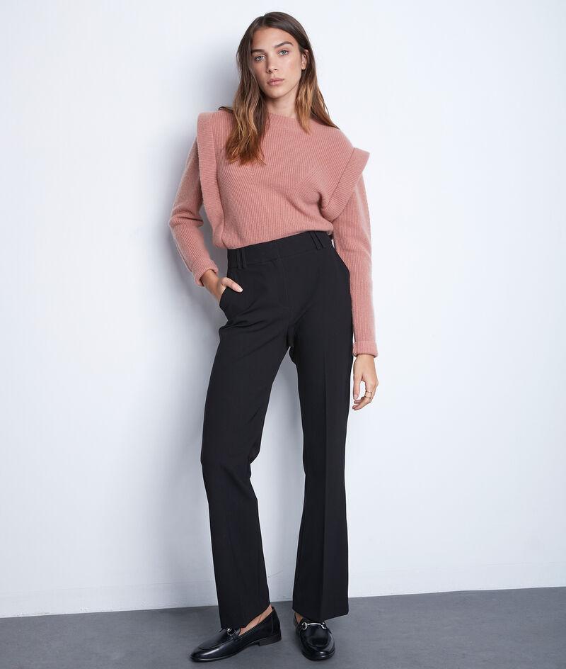Pantalon de tailleur évasé noir Drew PhotoZ   1-2-3