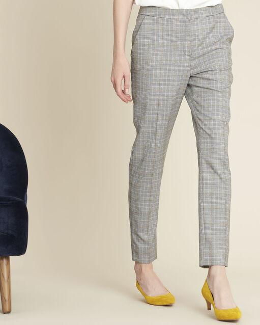 Pantalon cigarette motif prince de Galles Harry (2) - 1-2-3