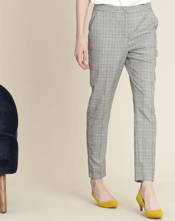 Pantalon cigarette motif prince de Galles Harry (1) - 1-2-3