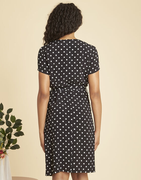 Perla black, polka-dot wrap dress (4) - 1-2-3
