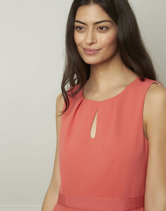 Isis round coral-coloured dress (4) - Maison 123