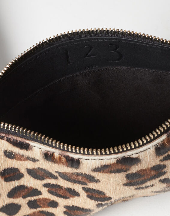 Droopy leopard print clutch with leather straps (5) - 1-2-3