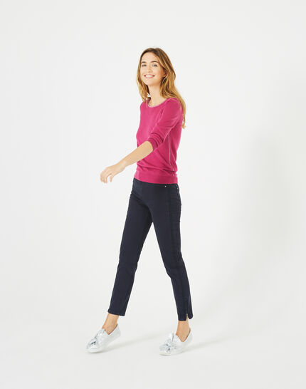 Pétillant raspberry sweater with metallic threading (4) - 1-2-3