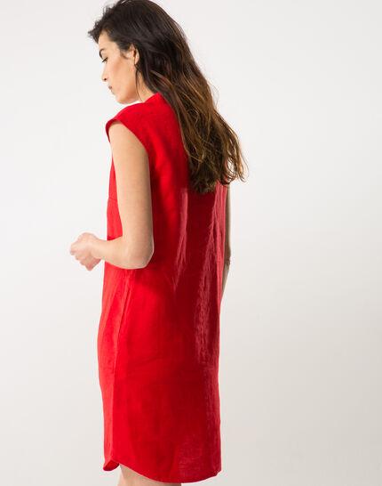 Bellini red linen dress (4) - 1-2-3