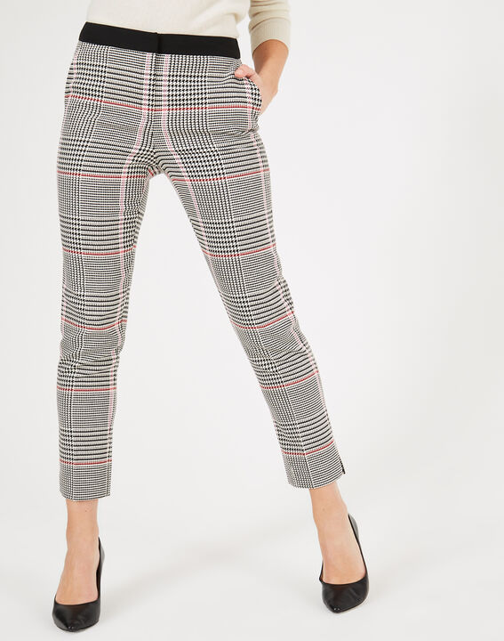 pantalon de tailleur motif prince de galles lara 2 123. Black Bedroom Furniture Sets. Home Design Ideas