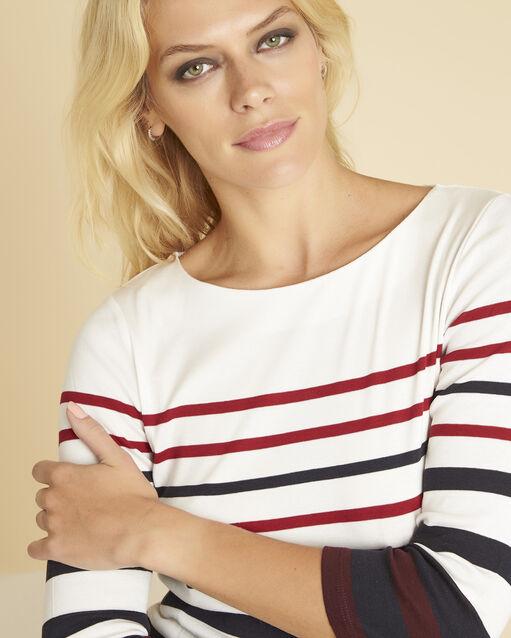 Tee-shirt rouge rayé Gasayat (2) - 1-2-3