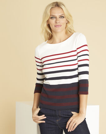 Gasayat red t-shirt with stripes red.