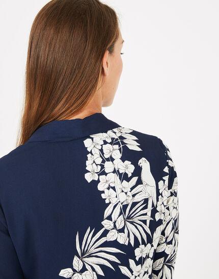 Robe chemise imprimé fleuri Azur (4) - 1-2-3