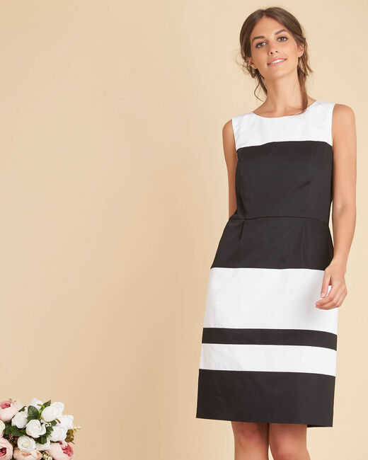 Isadora corolla two-tone dress (2) - 1-2-3