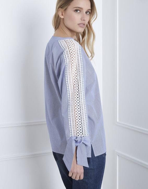 Hemelsblauwe blouse met macramé Vike (4) - Maison 123