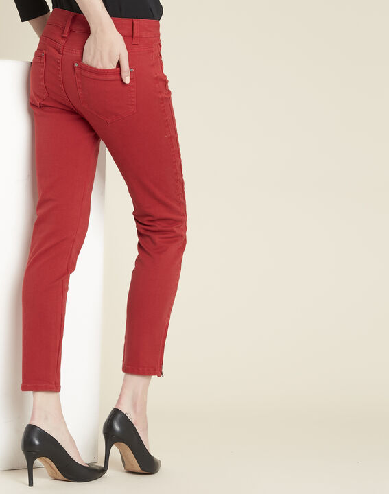 Jean rouge slim à zips Opera (4) - 1-2-3