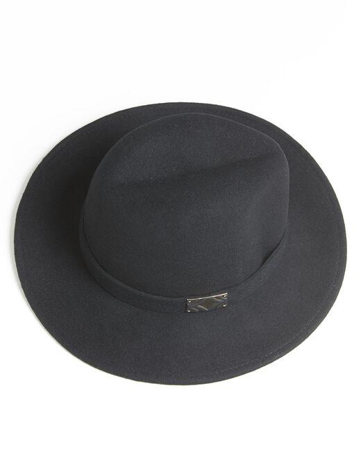 Chapeau noir en laine avec bande Uliette (2) - 1-2-3
