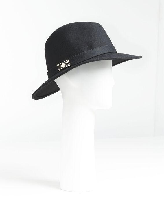 Zwarte dameshoed van wol met band Uliette (1) - Maison 123