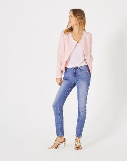 Lili pale pink cropped jacket (3) - 1-2-3