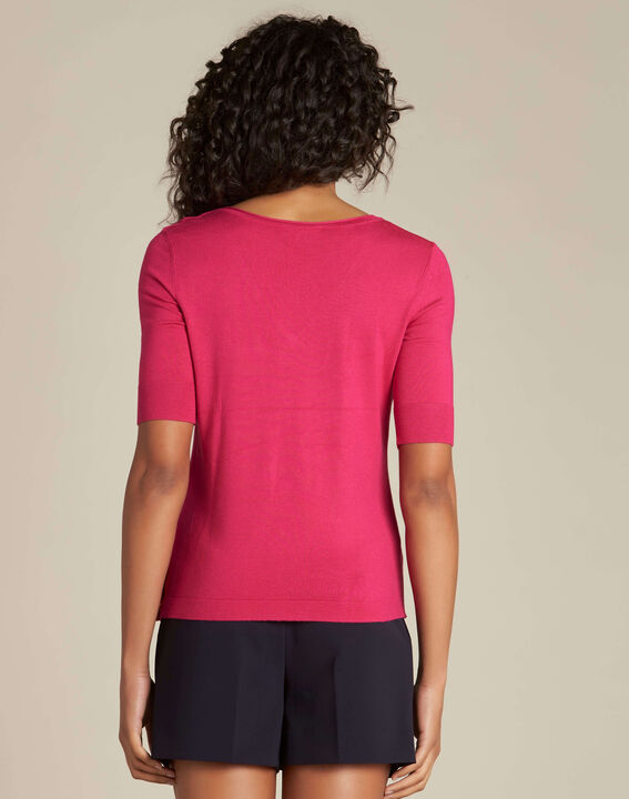 Novette fuchsia sweater with golden press-studs (4) - 1-2-3