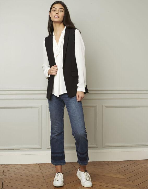 Schwarze, ärmellose Jacke aus Mikrofaser Cool (2) - Maison 123