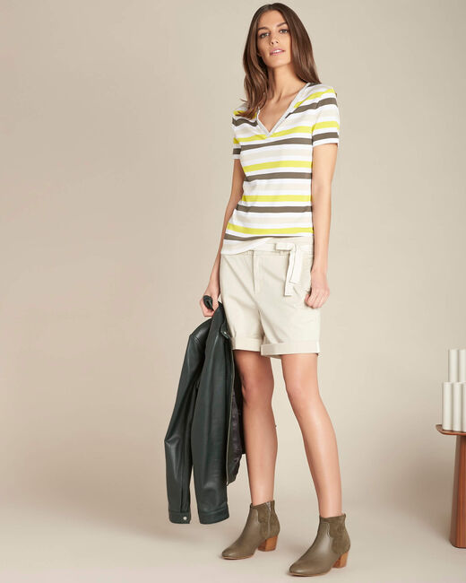 Embruns khaki striped T-shirt (2) - 1-2-3