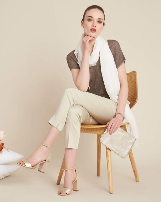 Rubis beige 7/8 length trousers (2) - 1-2-3