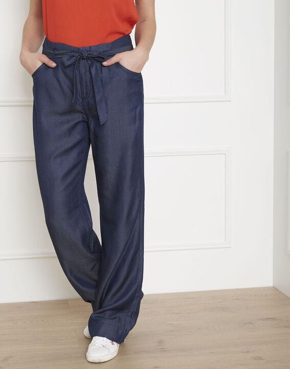 Pantalon bleu fluide ceinturé Gabriel (1) - Maison 123
