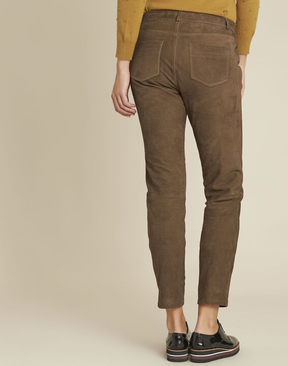 Pantalon kaki en cuir velours Houston (4) - 1-2-3