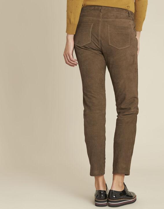 Pantalon kaki en cuir velours Houston (4) - Maison 123