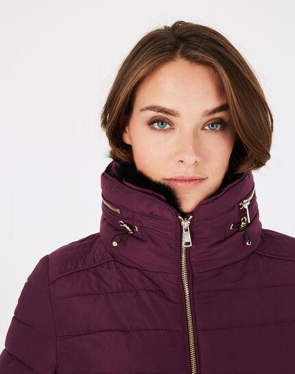 Laure short blackcurrant puffer jacket (3) - 1-2-3