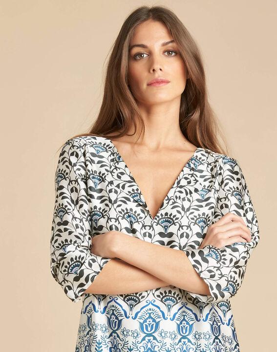 Passiflore blue printed dress (1) - 1-2-3