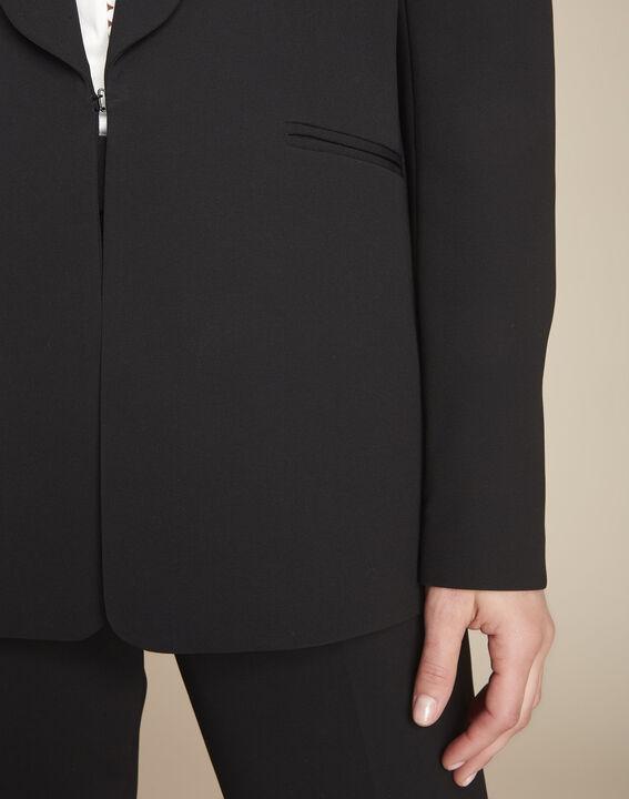 Stella black jacket with cowl microfibre neckline (2) - 1-2-3