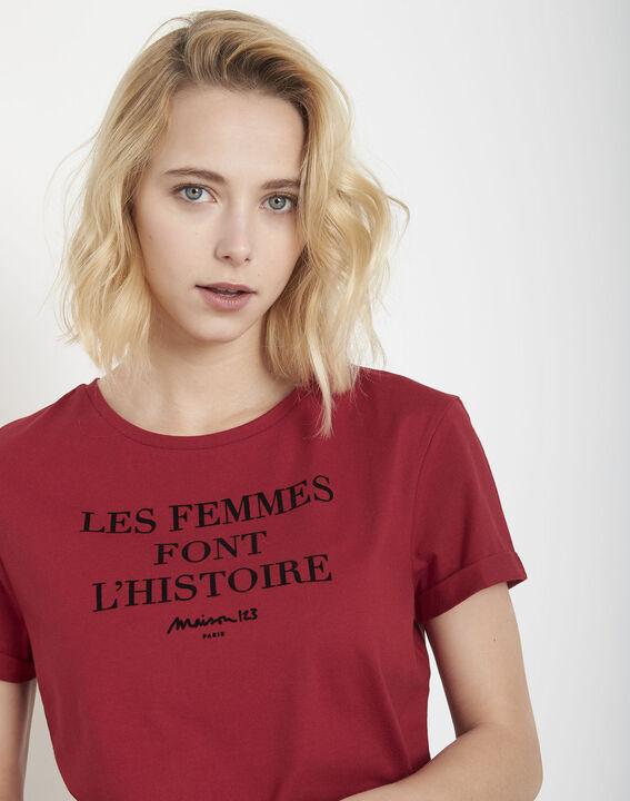 Tee-shirt rouge message Proud (3) - Maison 123