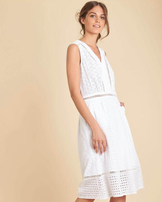 Robe blanche brodée Panache (2) - 1-2-3