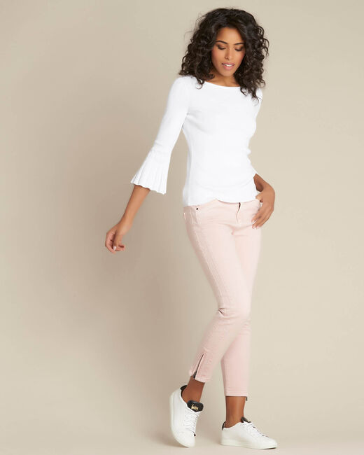 Opera slim-cut pink jeans with ankle zips (1) - 1-2-3