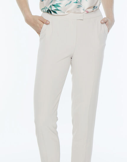 Lara beige tailored trousers (5) - 1-2-3