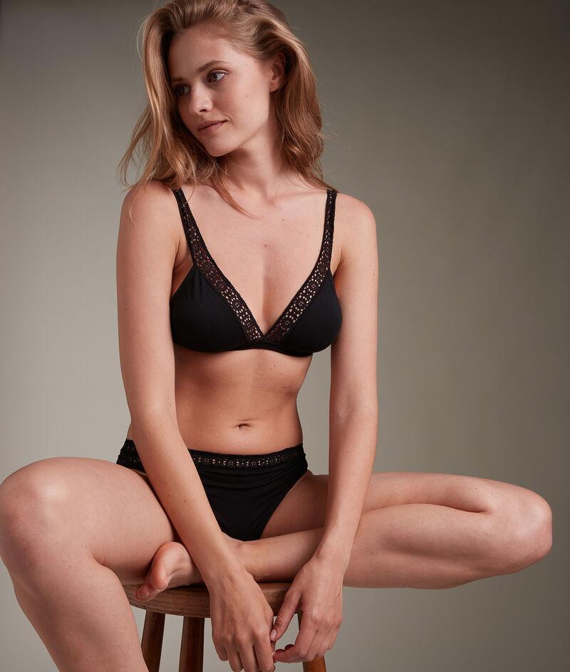 Culotte en pur coton responsable noire Ninon PhotoZ | 1-2-3