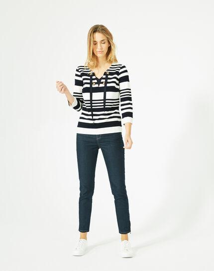 Tee-shirt manches 3/4 rayé Boréal (2) - 1-2-3