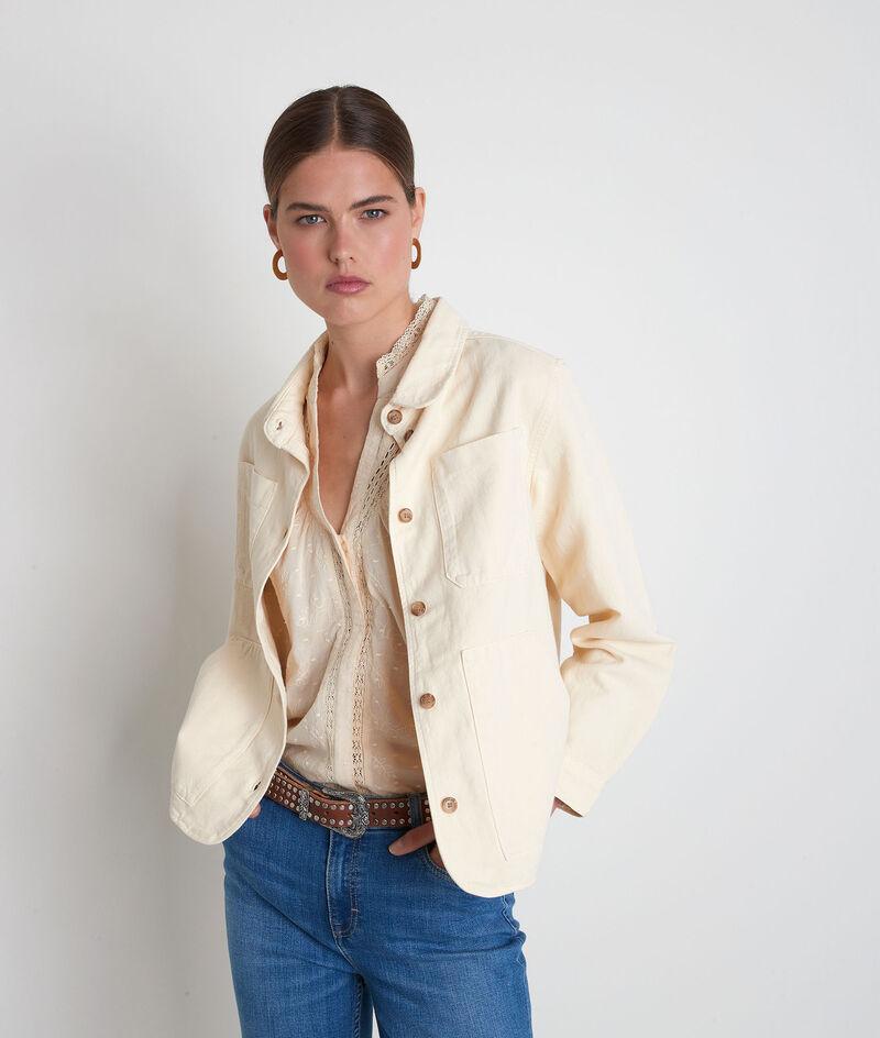Veste en coton et lin paille Romea PhotoZ | 1-2-3