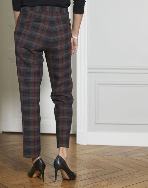Suzanne Red-Checked Cigarette pants (4) - 1-2-3