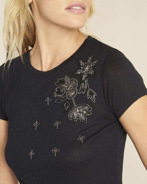 Tee-shirt noir brodé Gly (2) - 1-2-3