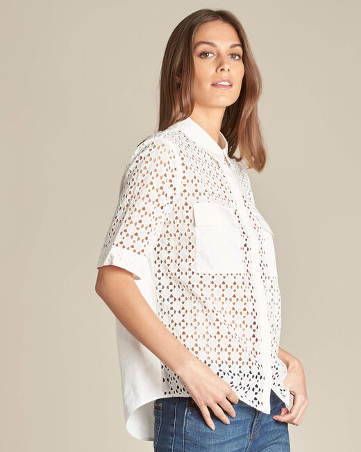 Gisele ecru lace blouse in 100% cotton (2) - 1-2-3