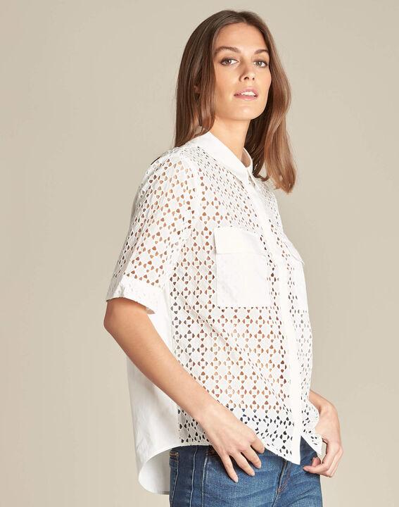 Gisele ecru lace blouse in 100% cotton (3) - 1-2-3