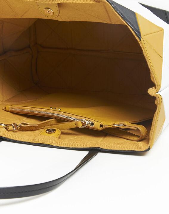 Ilari amber and black leather bag (4) - 1-2-3