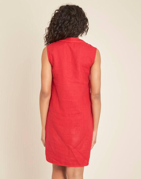 Pim red linen dress (4) - 1-2-3