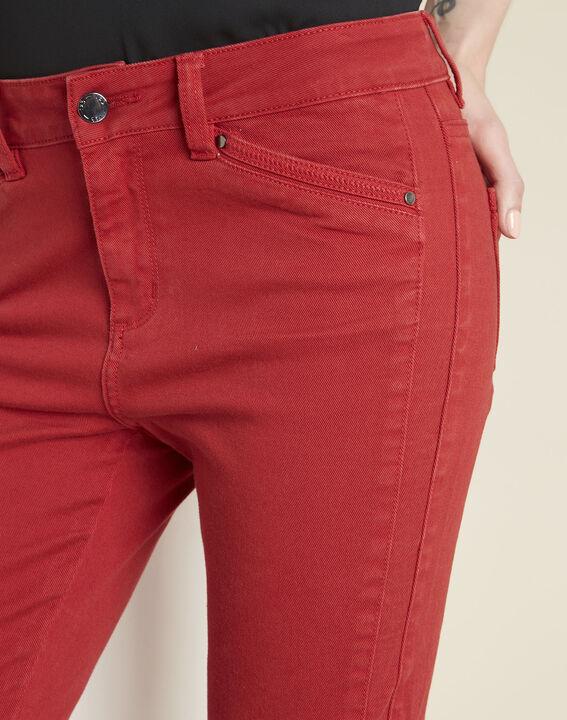 Jean rouge slim à zips Opera (3) - 1-2-3
