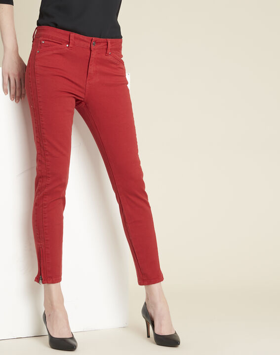 Rode slim fit jeans met ritsen Opera PhotoZ | 1-2-3