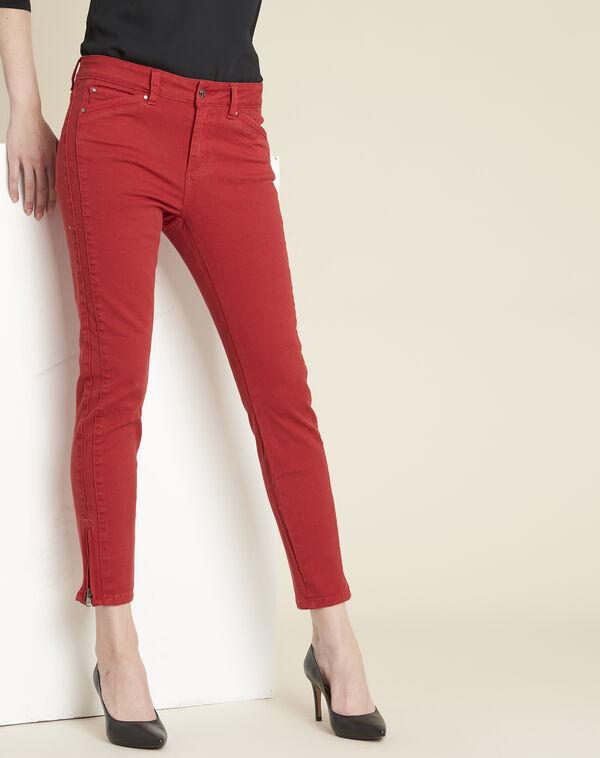 Jean rouge slim à zips Opera (1) - 1-2-3