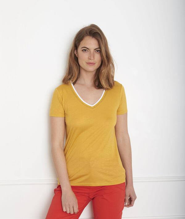 Gelbes T-Shirt Rippbündchen Passo PhotoZ | 1-2-3