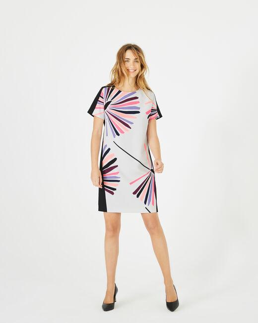Kleid mit Fächerprint Amarena (2) - 1-2-3