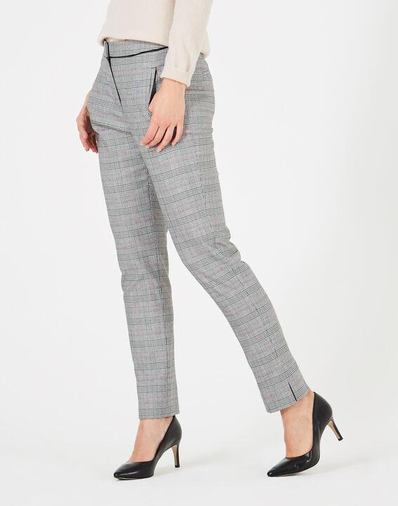 pantalon de tailleur motif prince de galles lara 123. Black Bedroom Furniture Sets. Home Design Ideas