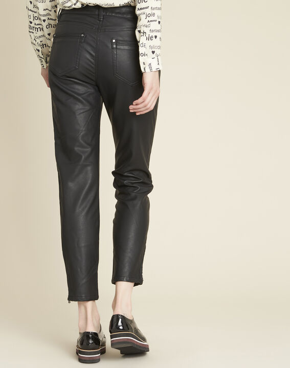 Opéra 7/8-length jeans in faux leather (4) - 1-2-3
