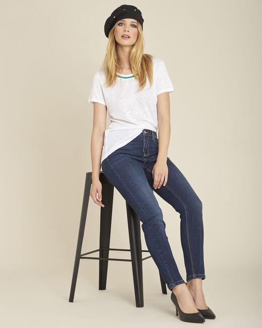 T-shirt van wit linnen Elu (2) - 37653