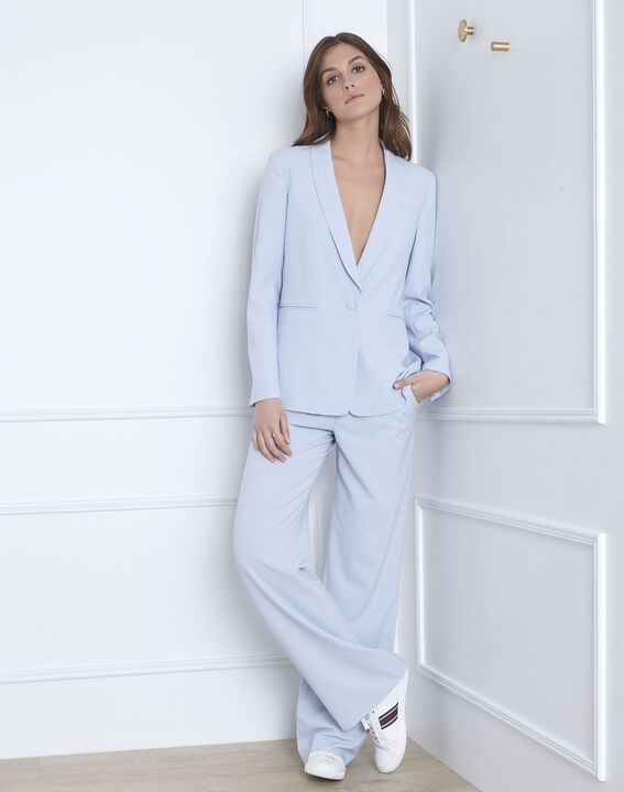 Veste bleu clair col chale Stella (5) - Maison 123